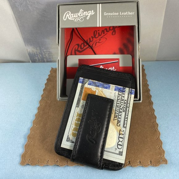 Rawlings Other - Baseball Stitch Front Pocket Wallet Black and Red
